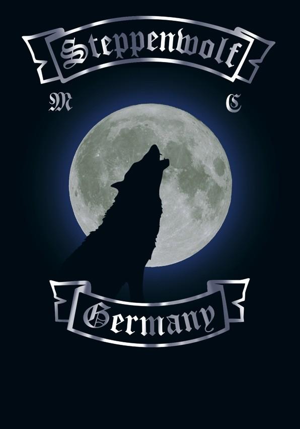 Wolf heult in der Nacht